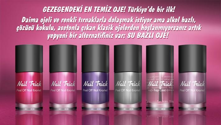 Nail Trick Asetonsuz Çıkan Oje Türkiye'de